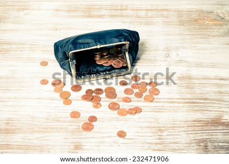 Manage with little money - stock photo