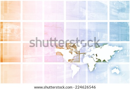 Management Strategy for a Global Business Company - stock photo