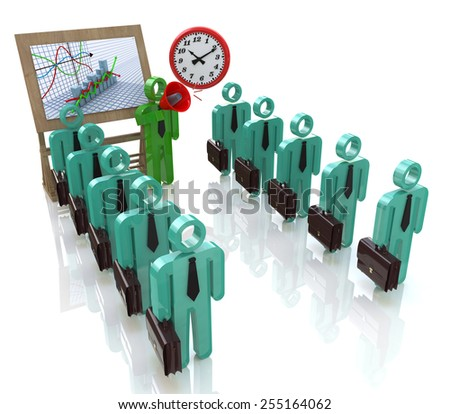 Management team of office workers in business  - stock photo