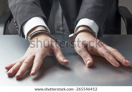manager as corporate hostage - stock photo