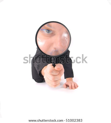 manager as detective - stock photo