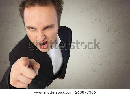 Manager, Furious, Anger. - stock photo