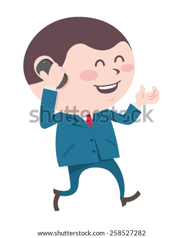 manager talking on cellphone - stock photo