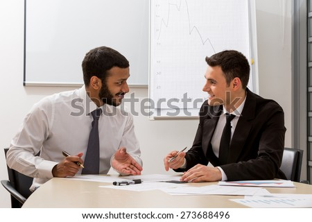 Managers are discussing. - stock photo