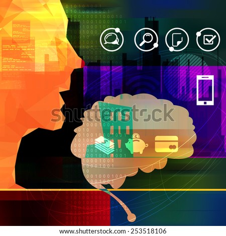Managing Finance Abstract - Stock Image - stock photo