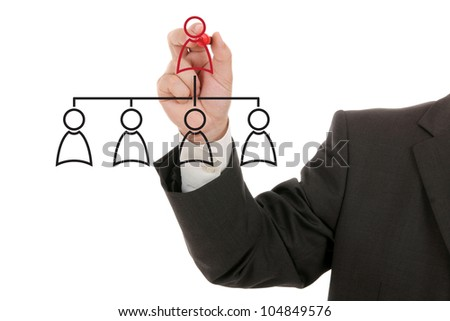 Managing organization or social network - stock photo