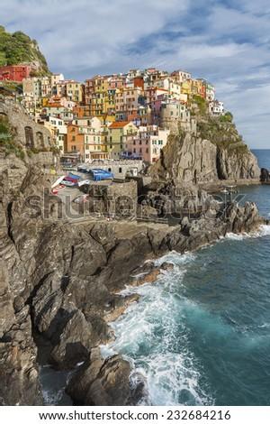 Manarola, Cinque Terre , Liguria, Italy  - stock photo