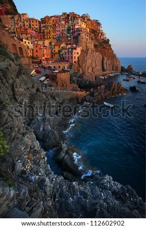 Manarola Reef, Cinque Terre, Italy - stock photo