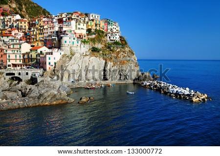 Manarola Village, Cinque Terre, Italy - stock photo