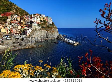 Manarola Village, Italy - Cinque Terre - stock photo