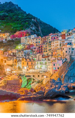 Manarola village within Cinque Terre in Liguria Region, Northern Italy.