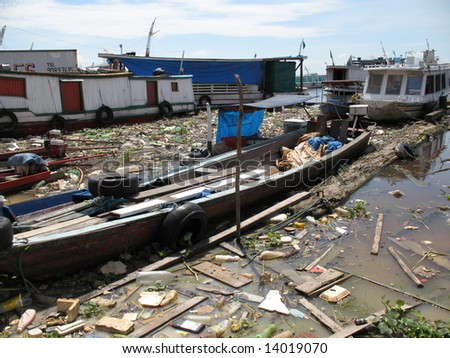 Manaus, 08 December, 2007. Pollution of the environment - Amazon - stock photo