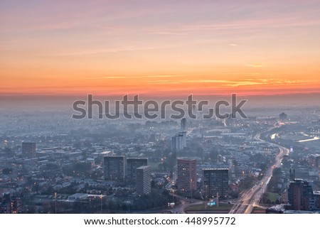 Manchester City Centre sunset