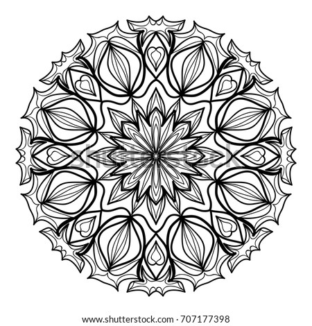 Mandala Decorative Ornament Illustration Coloring Book Stock ...