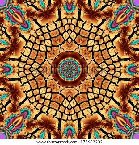 mandala design - stock photo
