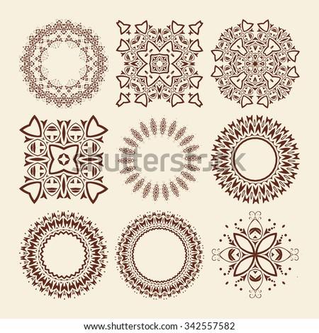 Mandala. Vintage decorative elements. Hand drawn background. Islam, Arabic, Indian, ottoman motifs. Raster version - stock photo