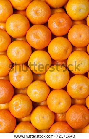 mandarin background - stock photo