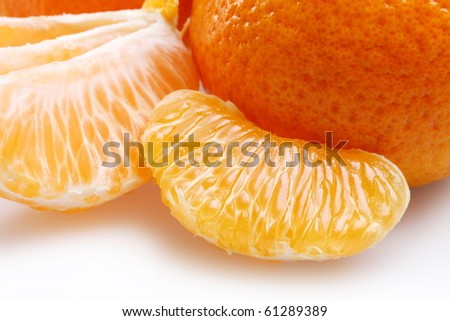 Mandarin slice close