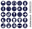 Mandatory Signage icon Collection - stock photo