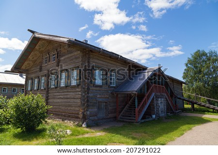 Mandrogi crafts village. Russia, Leningrad Region, Podporozhsky. - stock photo