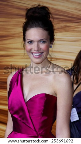 """Mandy Moore at the Los Angeles Premiere of """"Tangled"""" held at the El Capitan Theater in Hollywood, California, United States on November 14, 2010.  - stock photo"""