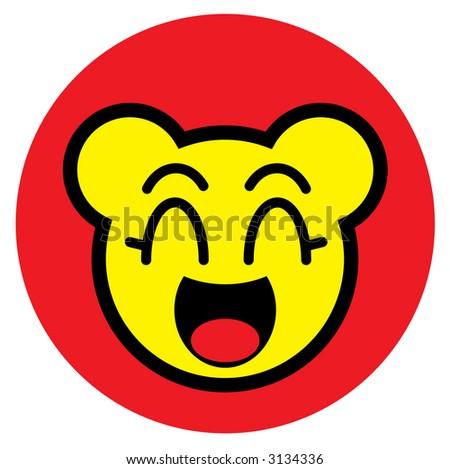 Manga character symbol - stock photo