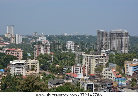 Mangalore, India - October 25, 2015 - Airial of Mangalore, South India