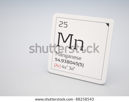 Manganese - element of the periodic table - stock photo