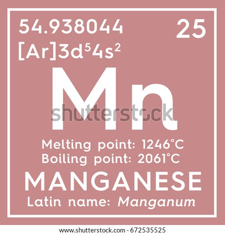 Manganese manganum transition metals chemical element stock transition metals chemical element of mendeleevs periodic table manganese in urtaz Gallery