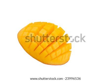 mango garnish - stock photo