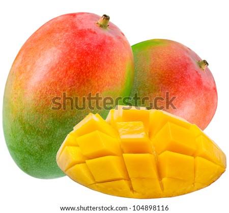 Mango isolated on white background - stock photo
