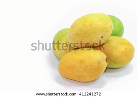 mango Thai fruit isolate on white background
