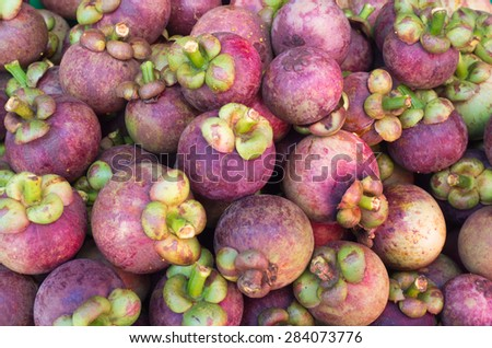 Mangosteen pile for sale,sweet taste.
