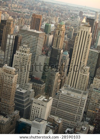 Manhattan aerial view.