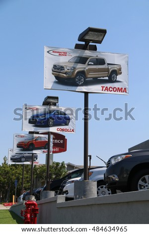 Manhattan Beach, CA, USA   June 16, 2016: The Sign Of Toyota