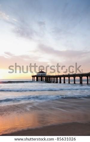 Manhattan Beach Pier - stock photo
