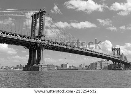 Manhattan Bridge, connecting Manhattan and Brooklyn, New York City