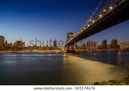 Manhattan bridge long exposure
