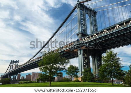 Manhattan bridge, New York  - stock photo