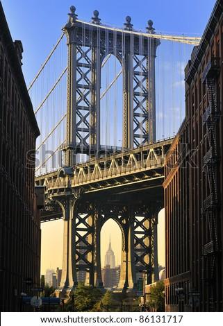 Manhattan Bridge, New York City, USA - stock photo