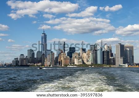 Manhattan New York City Skyline - stock photo