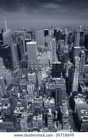 Manhattan, New York from above - stock photo