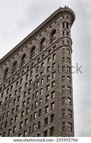 Manhattan, NYC - November 6: View of the Flat Iron building in Manhattan, NYC on November 6, 2014.