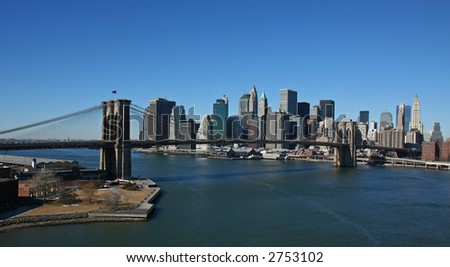 Manhattan panoramic- aerial view