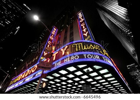 Manhattan - radio city hall - stock photo