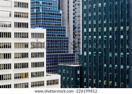 Manhattan real estate - stock photo