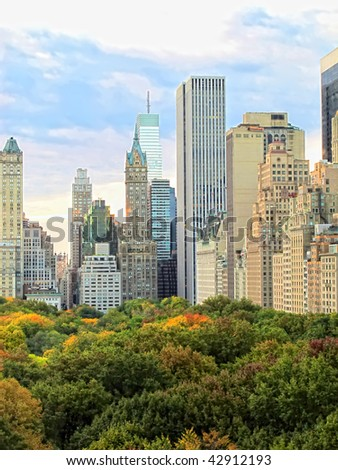 Manhattan skyline and Central Park, NYC