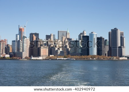 Manhattan view from New Jersey