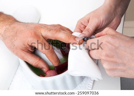 manicure in a modern beauty salon - stock photo