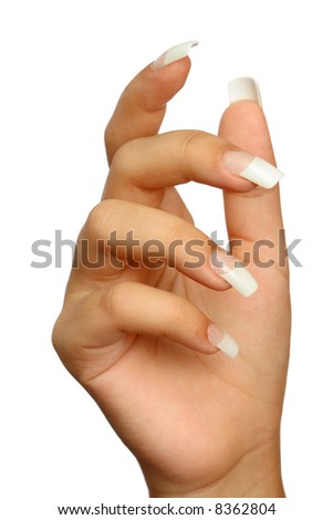 Manicure, isolated on white